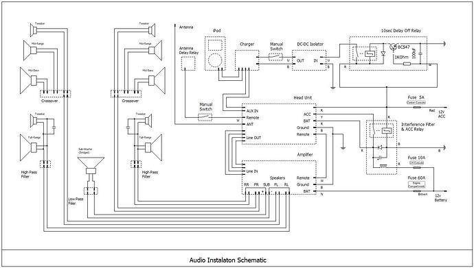 Audo Instalation Schematic