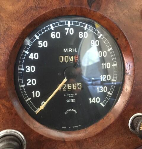 XK140 Speedo - 3.54 axle 1200