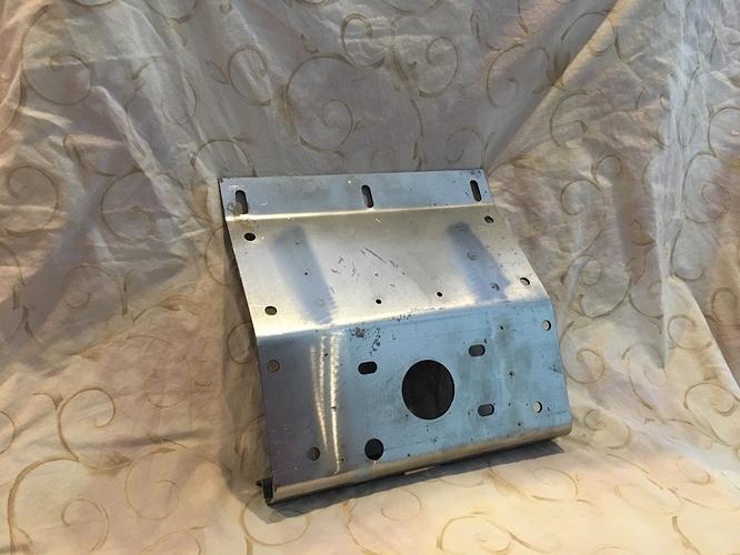XK120 Bonnet Lock Mounting Plate 03