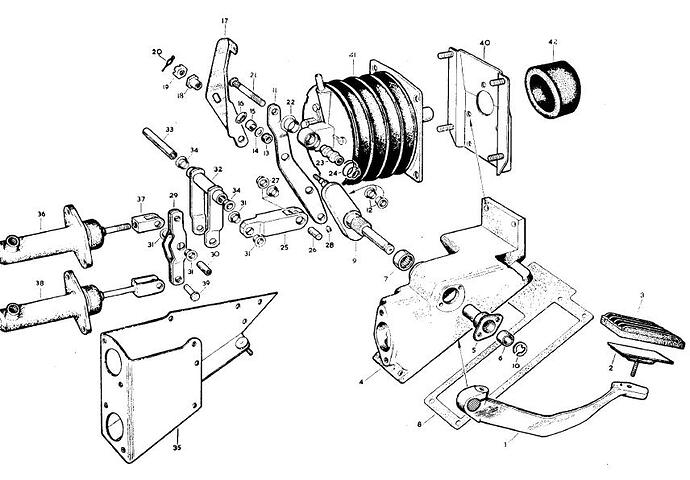 Pedal box from the jag parts manual