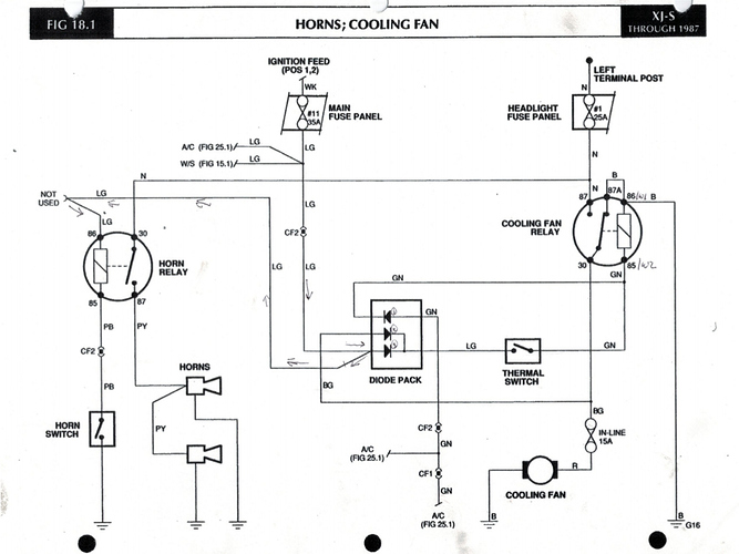 Aux electric fan..controlled by AC or not? - XJ-S - Jag ... on thermostat wiring diagram, radiator fan controller wiring, 4 wire relay wiring diagram, blower motor wiring diagram, electrical relay diagram, 2002 jeep grand cherokee radiator diagram, cooling fan circuit diagram, mass air flow sensor wiring diagram, cooling fan relay diagram, air conditioning compressor wiring diagram, oil pump wiring diagram, radiator cooling fan parts, cooling system diagram, radiator cooling fan relay, radiator cooling fan motor, ignition switch wiring diagram, 1997 honda civic cooling fan diagram, computer wiring diagram, radiator cooling fans not working, aftermarket electric fan relay diagram,