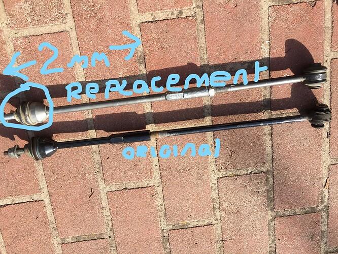 Rear Tie Rods Original Black Replacement Silver_LI