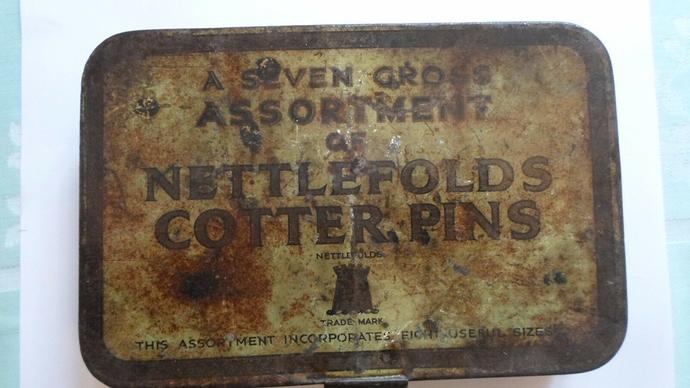Nettlefolds-various-Cotter-Pins-Old-Garage-Vintage