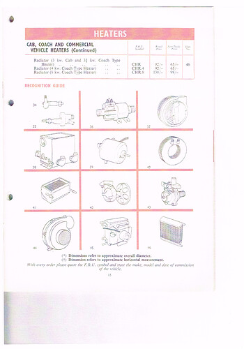 SMITHS HEATER page 15 item 37