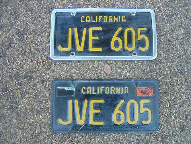 lic JVE605 CA blacw yell