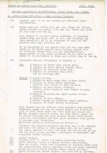 JAGUAR April, 1946 p.1