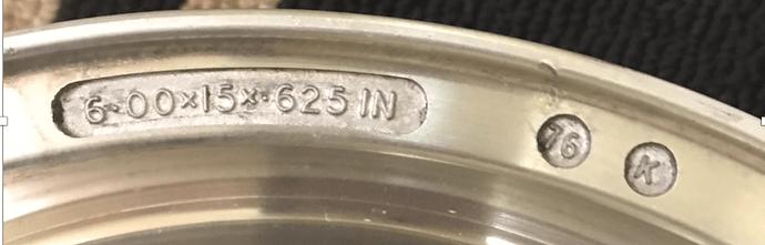 Closeup front rim size