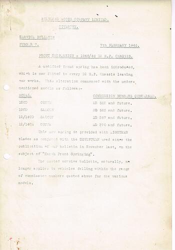 SB.7 7 February, 1946