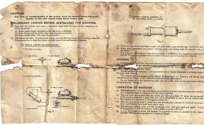 Lockheed brake booster 1b