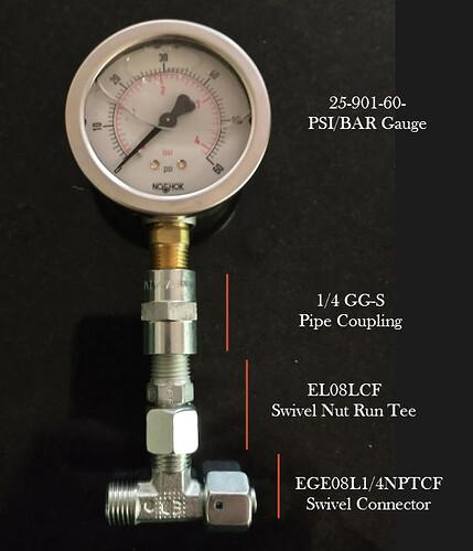 Hydradyne Fuel Pressure Test Rig