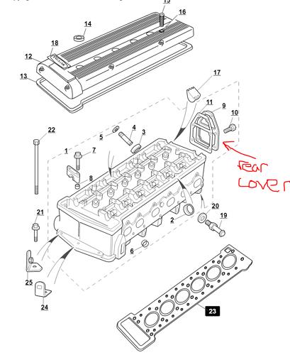 Rear cover parts diagram