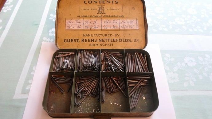 Nettlefolds-various-Cotter-Pins-Old-Garage-Vintage-_57