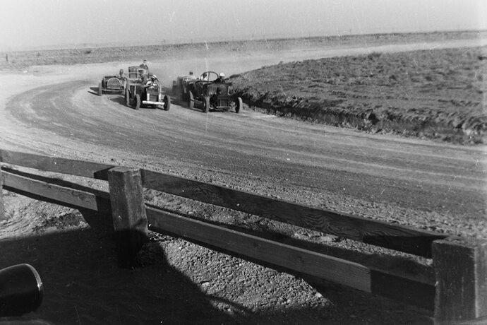 Desert raceway circa 1950