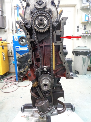 XK120 engine with timing cover off
