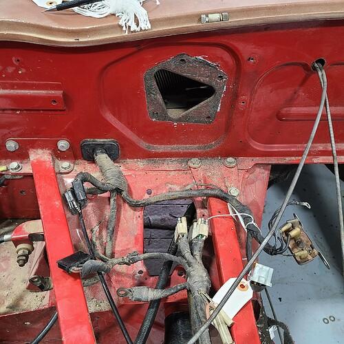Passenger Firewall stripped of Wiper Motor & Starter Relay