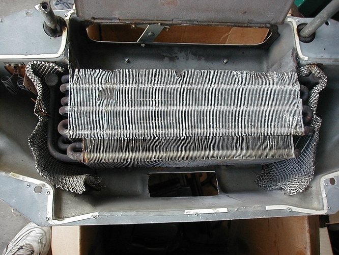evaporator coil is two pieces joined together
