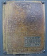 MK V Type B ID plate