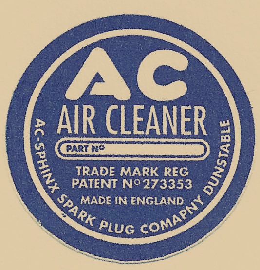 AC Air Cleaner Label