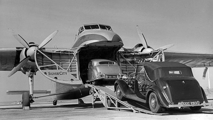 Mark V saloon in Bristol freighter