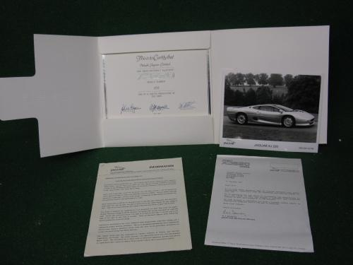 XJ220%20SUBSCRIPTION%20CERTIFICATE%20FOR%20CAR%20%23%20272%20%20SOLD%20200GBP