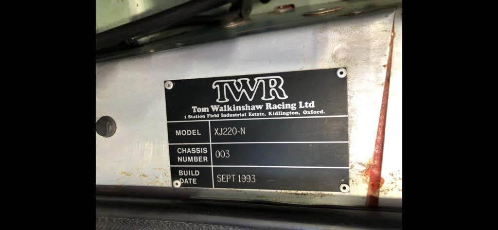XJ220-N TWRchassisPlate
