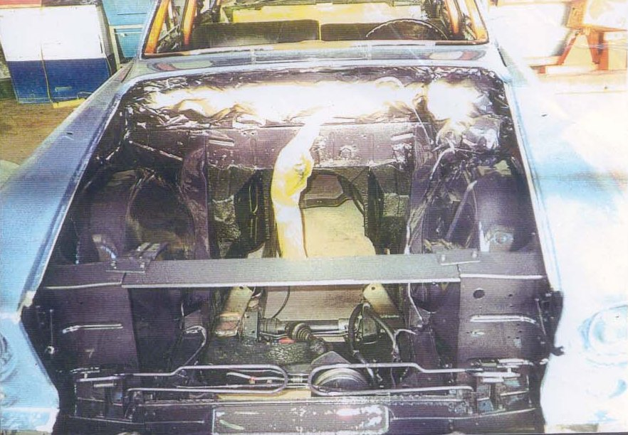 Engine compartment - painted