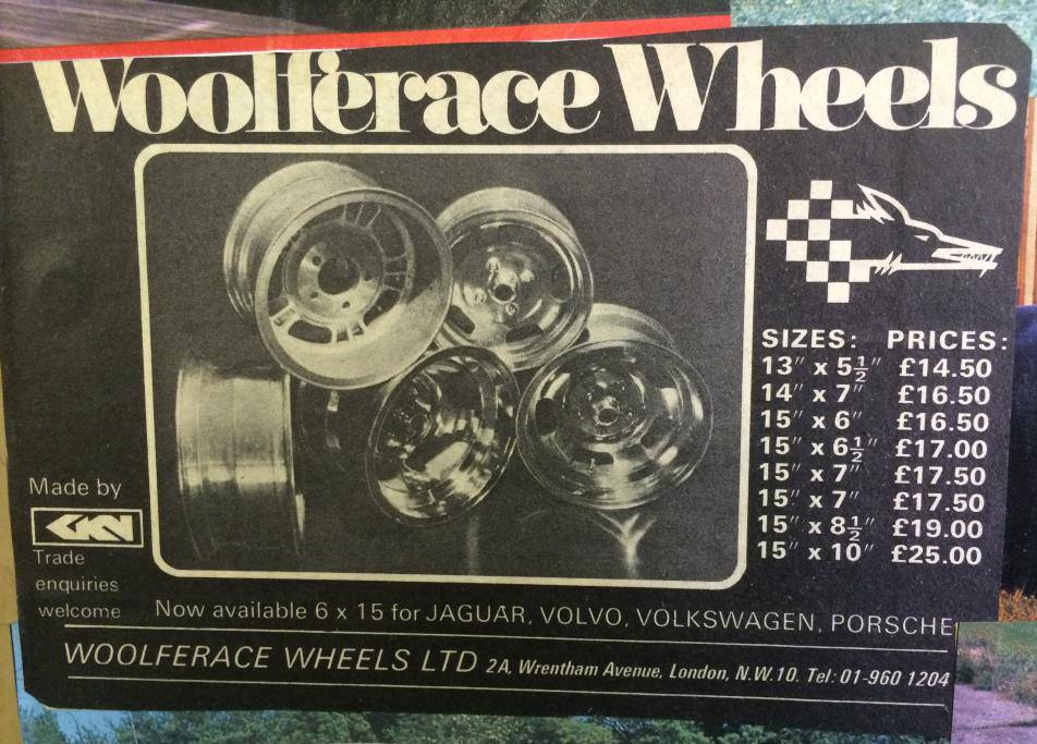 Price List Woolferace Wheels and sizes
