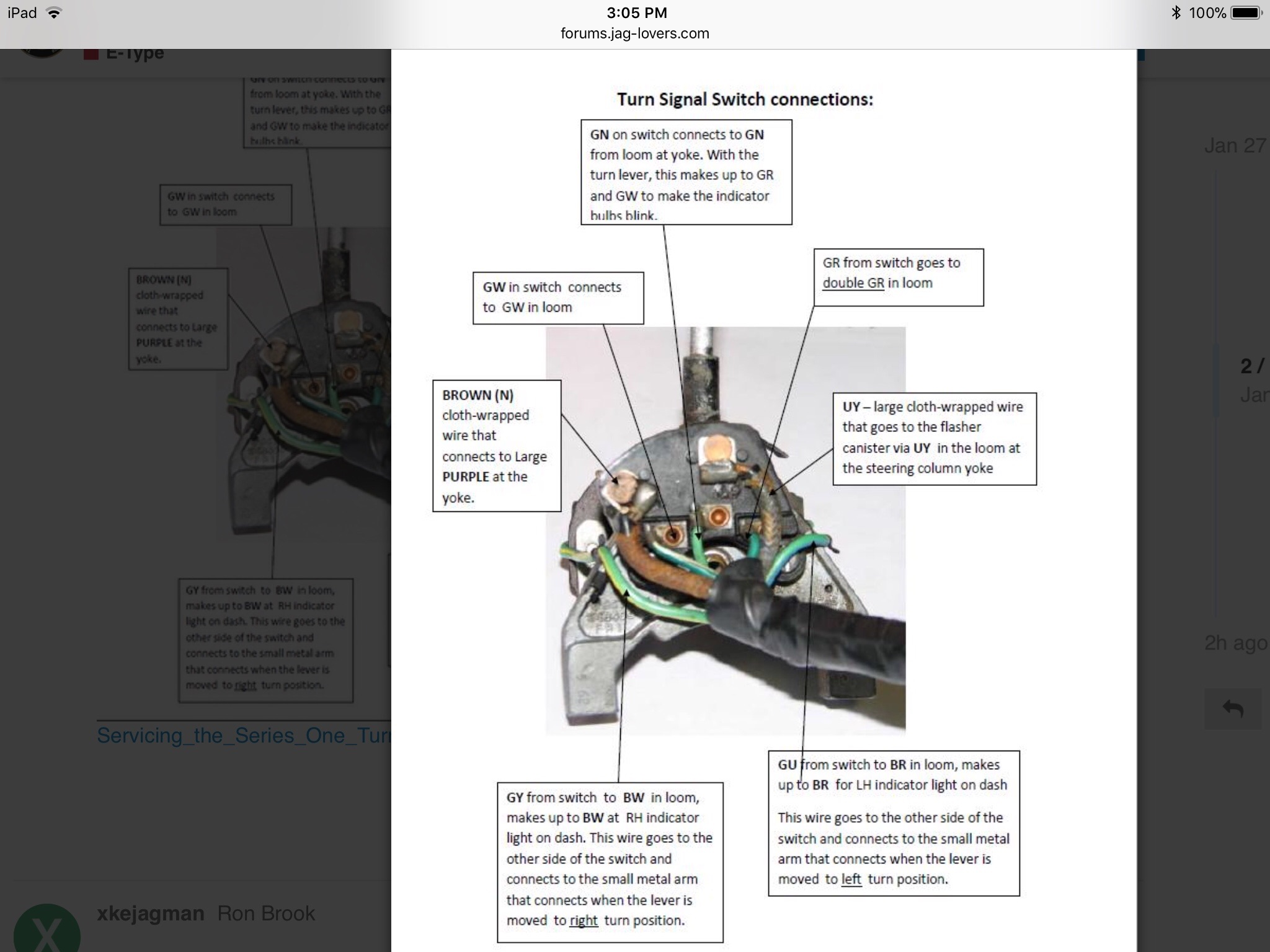 Xke S1 Turn Indicator Wiring Diagram - E-type